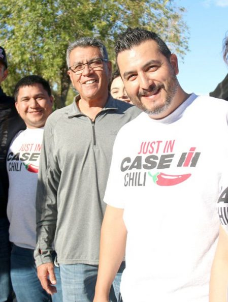 Right: Estefany Camacho of Jordan Central Implement, aka: Just in case chili, grand champions of Chili Cookoff in Brawley, Nov. 2.