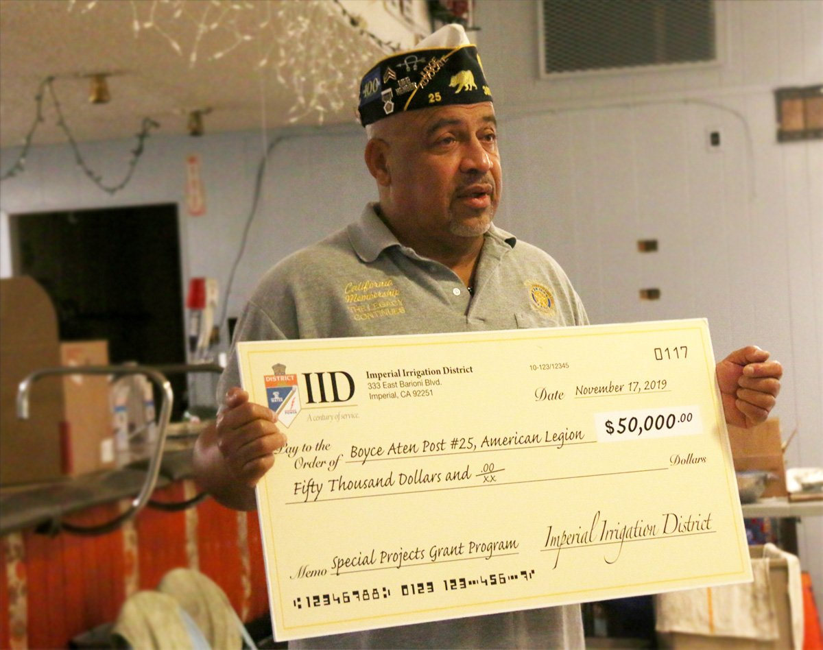 American Legion Post in El Centro Gets Grant, But Faced Closure