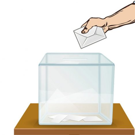 Poll Workers Needed   Stock Image