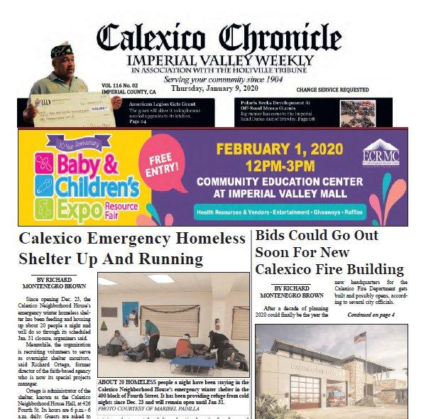 Calexico Chronicle E-Edition 1-9-20