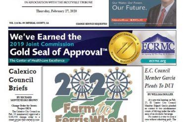 Calexico Chronicle e-Edition 2-27-20