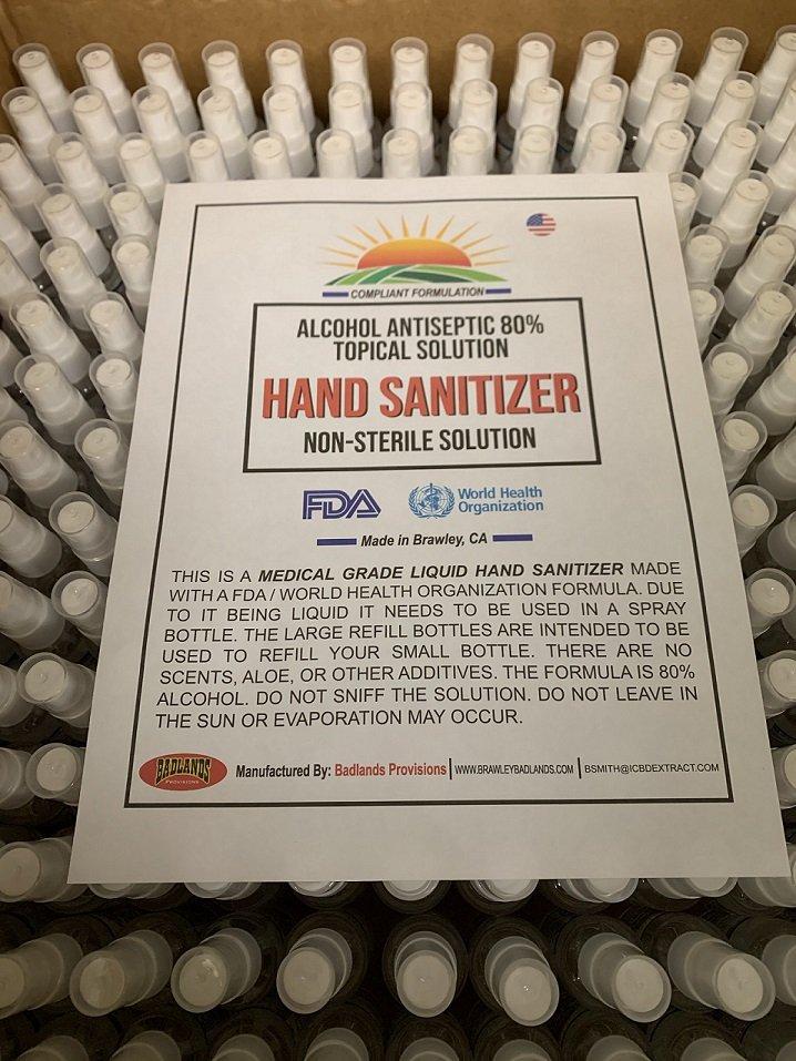 Badlands Provisions Making Hand Sanitizer