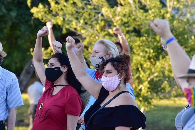 BLM, Social Justice Demonstrators Ready For Action