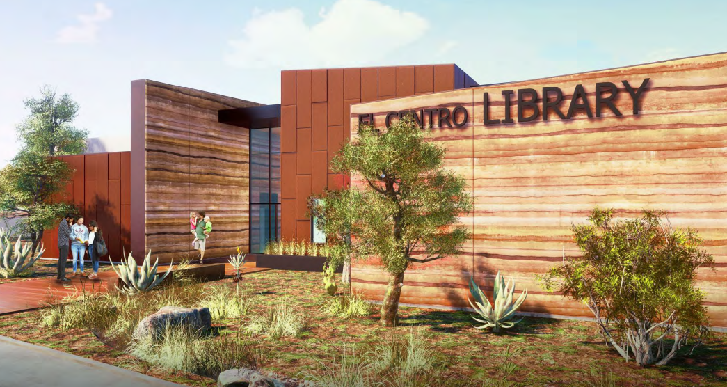 El Centro Library Building Closer to Construction
